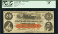 Obsoletes By State:Mississippi, Jackson, MS- State of Mississippi $20 Apr. 12, 1864 Cr. 7c. ...