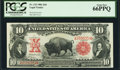 Large Size:Legal Tender Notes, Fr. 115 $10 1901 Legal Tender PCGS Gem New 66PPQ.. ...