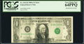 Error Notes:Ink Smears, Fr. 1915-B $1 1988A Federal Reserve Note. PCGS Very Choice New 64PPQ.. ...