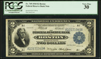 Fr. 749 $2 1918 Federal Reserve Bank Note PCGS Very Fine 30