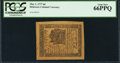 Colonial Notes:Delaware, Delaware May 1, 1777 6d PCGS Gem New 66PPQ.. ...