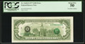Error Notes:Third Printing on Reverse, Fr. 2168-B $100 1977 Federal Reserve Note. PCGS About New 50.. ...