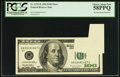 Error Notes:Foldovers, Fr. 2175-B $100 1996 Federal Reserve Note. PCGS Choice About New 58PPQ.. ...