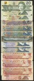 Canadian Currency: , A Selection of Thirty-Two Canadian Notes Totaling $112.25 in Face Value.. ... (Total: 32 notes)