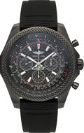Timepieces:Wristwatch, Breitling For Bentley GT3-R Carbon Black Chronograph Limited Edition Wristwatch No. 4 of 300. ...