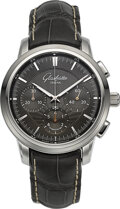 Timepieces:Wristwatch, Glashutte Original Senator Chronograph Wristwatch. ...