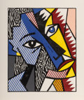 Prints, Roy Lichtenstein (1923-1997). Head, from Expressionists Woodcuts, 1980. Woodcut in colors with embossing on Arches C...