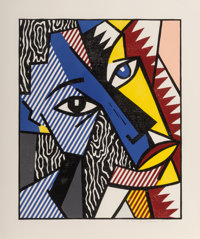 Roy Lichtenstein (1923-1997) Head, from Expressionists Woodcuts, 1980 Woodcut in colors w