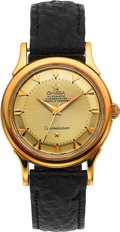 Timepieces:Wristwatch, Omega Rare 2782/2799 Vintage 18k Gold Constellation Automatic Chronometer, circa 1954. ...