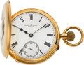 """Timepieces:Pocket (post 1900), Mappin & Webb """"The Mansion House Watch"""" Gold Demi-Hunter,Original Box, circa 1901. ..."""