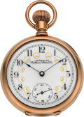 "Timepieces:Pocket (pre 1900) , Waltham 14k Gold Model 88 ""Tennyson"" Fancy Dial, circa 1893. ..."