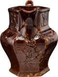 Political:3D & Other Display (pre-1896), Zachary Taylor: Six-sided Rockingham-style Pitcher....