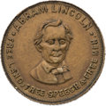Political:Tokens & Medals, Abraham Lincoln: Facing Portrait Campaign Token....