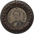 Political:Ferrotypes / Photo Badges (pre-1896), Abraham Lincoln: Largest Size Ferrotype Doughnut....