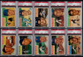 Baseball Cards:Lots, 1956 Topps Baseball Mid to High Grade Collection (109) With 19 PSAGraded Cards....