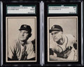 Baseball Cards:Sets, 1953 Bowman Black & White Baseball Near Set (63/64). ...