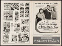 """The Bachelor and the Bobby Soxer & Others Lot (RKO, 1947). Uncut Pressbooks (3) (Multiple Pages, 18"""" X 12&q..."""