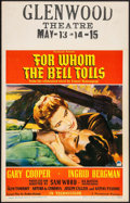 "Movie Posters:War, For Whom the Bell Tolls (Paramount, 1943). Window Card (14"" X 22"").War.. ..."
