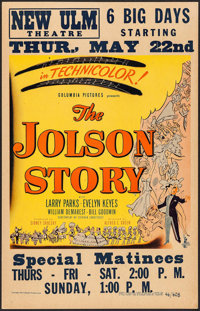 "The Jolson Story (Columbia, 1946). Window Card (14"" X 22""). Drama"