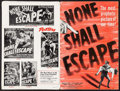 "Movie Posters:War, None Shall Escape & Others Lot (Columbia, 1944). UncutPressbooks (3) (Multiple Pages, 12.25"" X 18.5"", 11"" X 17"" & 12""X 18""... (Total: 3 Items)"