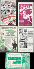 "Movie Posters:Adventure, Tarzan's Desert Mystery & Others Lot (RKO, 1943). Uncut Pressbooks (6) (Multiple Pages, 11"" X 17"" & 12"" X 18""). Adventure.. ... (Total: 6 Items)"