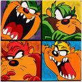Animation Art:Limited Edition Cel, Steve Kaufman Taz Attitudes Signed Limited Edition CanvasSilkscreen Print #1/100 (1996). ...