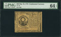 Continental Currency May 10, 1775 $30 PMG Choice Uncirculated 64 EPQ