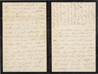 Mary Todd Lincoln Autograph Letter Signed with Transmittal Cover with Franking Signature