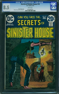Secrets of Sinister House #10 (DC, 1973) CGC VF+ 8.5 White pages