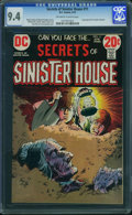 Bronze Age (1970-1979):Horror, Secrets of Sinister House #11 (DC, 1973) CGC NM 9.4 Off-white towhite pages.