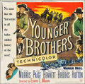 "Movie Posters:Western, The Younger Brothers (Warner Brothers, 1949). Six Sheet (78.5"" X 79.5""). Western.. ..."