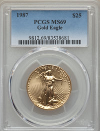 1987 G$25 Half-Ounce Gold Eagle MS69 PCGS....(PCGS# 9812)