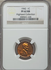 Five-Piece 1942 Proof Set PR62 to PR66 NGC. The set includes: cent PR62 Red and Brown; Type One nickel PR64; dime PR64;...