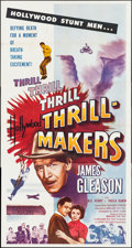 "Movie Posters:Action, Hollywood Thrill Makers (Lippert, 1954). Three Sheet (41"" X16.75""). Action.. ..."