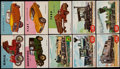 "Non-Sport Cards:Sets, 1954-55 Topps ""Rails and Sails"" & ""World On Wheels"" Set Pair(2). ..."