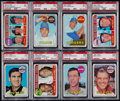 Baseball Cards:Lots, 1969 Topps Baseball PSA Mint 9 Graded Collection (14). ...