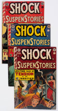 Golden Age (1938-1955):Horror, Shock SuspenStories #10 and 15-18 Group (EC, 1953-55) Condition:Average VG-.... (Total: 5 Comic Books)