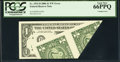 Error Notes:Foldovers, Fr. 1933-D $1 2006 Federal Reserve Note. PCGS Gem New 66PPQ.. ...