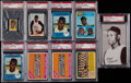 Baseball Cards:Singles (1960-1969), 1950's - 1970's Roberto Clemente PSA Graded Collection (9). ...