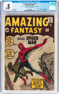 Amazing Fantasy #15 Incomplete (Marvel, 1962) CGC PR 0.5 Off-white to white pages