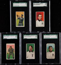 Baseball Cards:Lots, 1909-11 T206 Old Mill SGC Graded Collection (5). ...