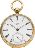 Timepieces:Pocket (pre 1900) , David Taylor London 18k Gold Lever Fusee, circa 1840. ...