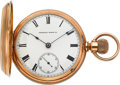 Timepieces:Pocket (pre 1900) , Waltham Heavy 18k Gold Cased Appleton Tracy Co. Stem Wind Model 57,circa 1877. ...