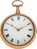 Timepieces:Pocket (pre 1900) , Francis Putley London Fine Gold Fusee With Steel CylinderEscapement, circa 1829. ...
