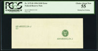 Fr. 2175-B $100 1996 Federal Reserve Note. PCGS Choice About New 55