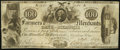 Obsoletes By State:Tennessee, Memphis, TN- Farmers and Merchants Bank $100 Oct. 2, 1846. ...