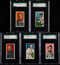 Baseball Cards:Lots, 1909-11 T206 Piedmont/Sweet Caporal SGC 50 VG/EX 4 GradedCollection (5). ...