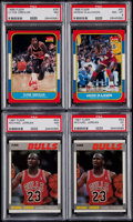 Basketball Cards:Lots, 1986 & 1987 Fleer Basketball PSA Graded Quartet (4) With Two1987 Michael Jordan Cards....