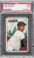 Baseball Cards:Singles (1950-1959), 1951 Bowman Monte Irvin #198 PSA Mint 9 - None Higher....