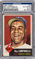 Autographs:Sports Cards, Signed 1953 Topps Roy Campanella #27 PSA/DNA Authentic. ...